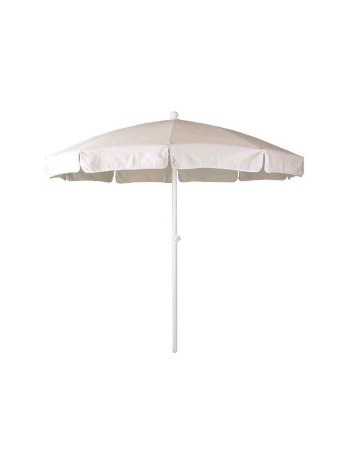 Parasol piscina Ø 200 aluminio estriado lacado blanco